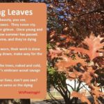 Dying Leaves - A poem by #WVPoetrygirl