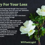 """Sorry For Your Loss"" a #poem by #WVPoetrygirl"
