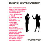"""Sparring Gracefully"" a poem by #WVPoetrygirl"