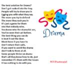 """Drama"" - a poem by #wvpoetrygirl"