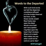 """Words to the Departed"" - A #poem by #WVPoetrygirl"